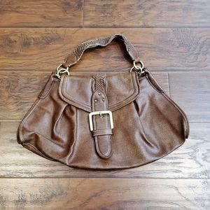 New Tommy Hilfiger Brown Leather Handbag Purse